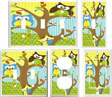OWLS IN A TREE NURSERY DECOR  IMAGE # 20 LIGHT SWITCH COVER PLATE