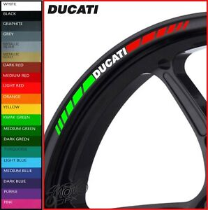 DUCATI Wheel Rim Stickers Decals - 20 Colors Available - 1199 1299 monster 899 r