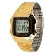Casio Original A178WGA-1 Mens Gold Stainless Steel Digital Mens Watch A-178 A178