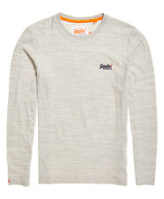 Superdry Men's Long Sleeve Orange Label Vntge Emb LS Pale Spirit Space Dye L