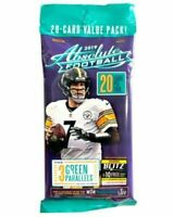 1 x Panini Absolute 2019 NFL Football Trading Cards Sealed Fat Pack 20 Cards