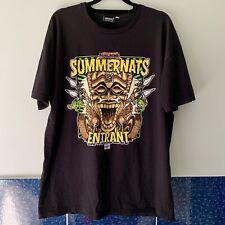 Summernats 31 Entrant Tshirt Size L Black Graphic Front & Back