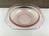 1930s Hocking PINK Depression Glass MAYFAIR Open Rose Cereal Bowl 5.5 In