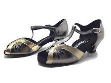 Chaussure de danse de salon pour femme:diamant couleur: or et argent taille:35,