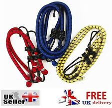 6 Bungee Straps Cords Set Hooks Elasticated Rope Cord Car Bike Luggage Straps