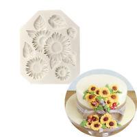Eg _ Fm- DIY Silicone Blanc Tournesol Moule Gâteau Fondant Argile de Cookie