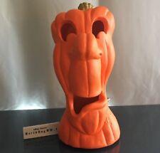 RARE CASPER STRETCH Pumpkin Halloween Light Jack Lantern Foam Blow Mold VINTAGE