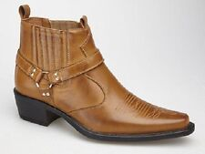 Men's Slip on Cowboy Synthetic Leather Boots