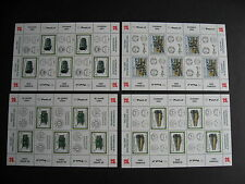 AUSTRIA B371-4 all in full MNH sheets of 5, check them out!!!