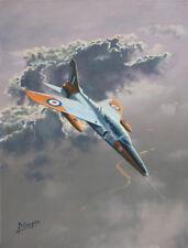 Folland Gnat RAF Trainer Central Flying School Aviation Art Painting Print