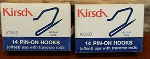 NEW! NOS! Vintage Kirsch Pin-On Drapery Hooks 1036-B 2 Boxes 28 Total