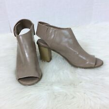 Madden Girl G-Super Brown Leather Peep Toe Heels Shoes Size 10M