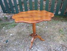 antiguo mesa velador violín de nogal rubio macizo patinado pedestal mesa