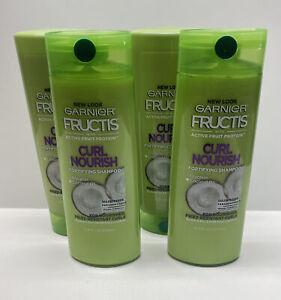 4 Garnier Fructis Curl Nourish Sulfate & Silicone Free Shampoo & Conditioner