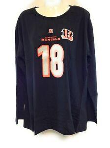 Womens NFL Majestic Cincinnati Bengals AJ Green #18 Black Long Sleeve T-Shirt