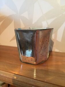 The White Company Gold Crackle Glass Tealight Holder
