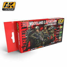 AK Interactive 3250 Figure series Woodland & Flecktarn Camouflages