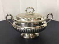 Antique  English Silver Plate Tureen Dish Elkington & Co 12741 13.5 x 9 heavy
