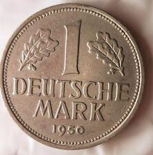 1950 F GERMANY DEUTSCHE MARK - Excellent Vintage Coin - GERMAN BIN #6-11
