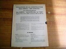 REVUE TECHNIQUE évolution des SIMCA 1501 SPECIAL / 1301 / 1301 SPECIAL