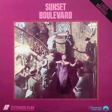 SUNSET BOULEVARD NTSC LASERDISC William Holden,Gloria Swanson,Erich von Stroheim