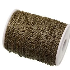 Bronze Plated Cable Link Chains Findings for DIY Jewelry Making 5meter/lot