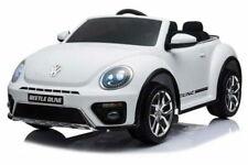Auto elettrica per Bambini Volkswagen Maggiolino Beetle 12v Bianco con Radio FM