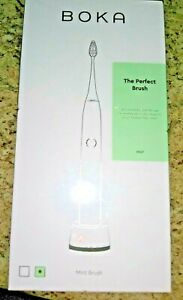 Boka electric toothbrush with two activated charcoal bristle replacement heads