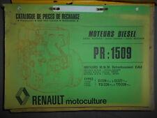 Renault moteur diesel MWM : catalogue pièces PR1509 - 1979