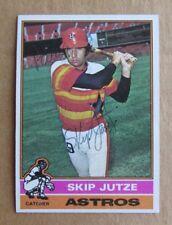 1976 TOPPS BASEBALL SKIP JUTZE #489 AUTOGRAPHED SIGNED CARD HOUSTON ASTROS