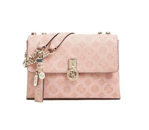 Guess Ninnette SG787721 Flap Over Shoulder Bag, Rosewood Pink