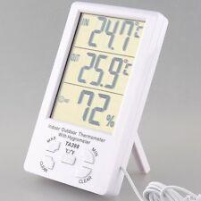 Estación Meteorológica digital sensor mide humedad temperatura exterior interior