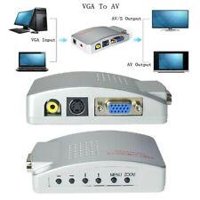 New listing Vga to Av Rca Tv Monitor S-video Signal Adapter Converter Box for Pc Laptop Mac