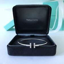 Tiffany & Co.T-Wire White Gold Diamond Bracelet size Large $3300+ New/Packing!!!