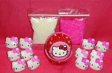 Hello Kitty,Cupcake Kit,Rings,Sprinkles,Bake Cups,Wilton,Pink/red,415-7575,Party
