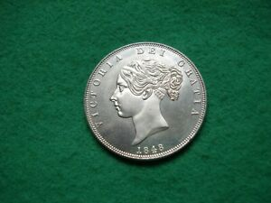 Victoria 1848 Young Head Half Crown Filler coin (not genuine) FREEPOST