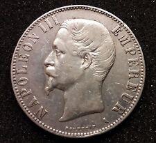 ECU DE 5 FRANCS 1855 A NAPOLÉON III EMPEREUR - Argent