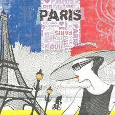 Lot de 2 Serviettes en papier Paris Decoupage Collage Decopatch