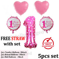 5pcs 1st Birthday Baby Shower Foil Helium Balloon Set Party Decoration Set UK