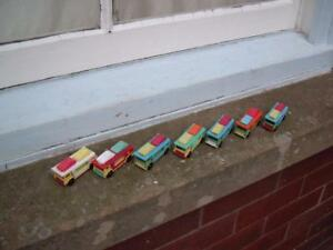 7 PLAYMOBIL MATCHBOX #11 SUPERFAST COPIES OF BEDFORD CAR TRANSPORTER USED
