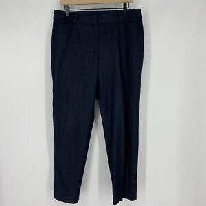 Talbots Pants Size 12 Women Indigo Blue Hampshire Ankle Trouser Stretch Straight
