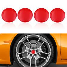 Red 56.5mm Car Wheel Hub Rim Center Caps Sticker for Car Wheel Cover Decoration