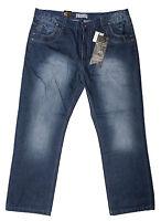 Mens Chisel Jeans Embriod Big Mens Blue Denim Straight Leg CJ-2658BS King Size