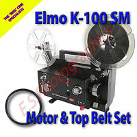 ELMO K100 SM 8mm Cine Projector Drive Belts Set of 2