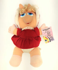 Vintage 1988~McDonalds Baby Miss Piggy Stuffed Toy Plush Christmas W/ Tag
