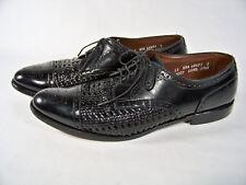 Allen Edmonds Sanford Woven Black Leather Cap Toe Dress Shoe 5307 SZ 11 AAA