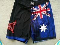 Tapout Australian Flag Aussie MMA UFC Fighting Surf Boardshort Sz 30 in 78cm