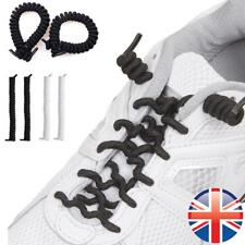 *UK Seller* No Tie Curly Elastic Shoelaces Disability Mobility Kids Shoe Laces