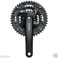 Shimano Acera FC-M371 chainset, square taper - 44 / 32 / 22T - 175 mm black