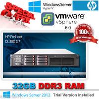 HP Proliant DL380 G7 2.66Ghz Quad Core E5640 Xeon 32GB RAM 8x 146Gb SAS P410i